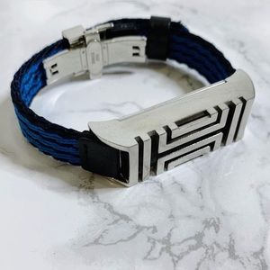 Tory Burch Blue & Black Sport Fitbit Alta Bracelet